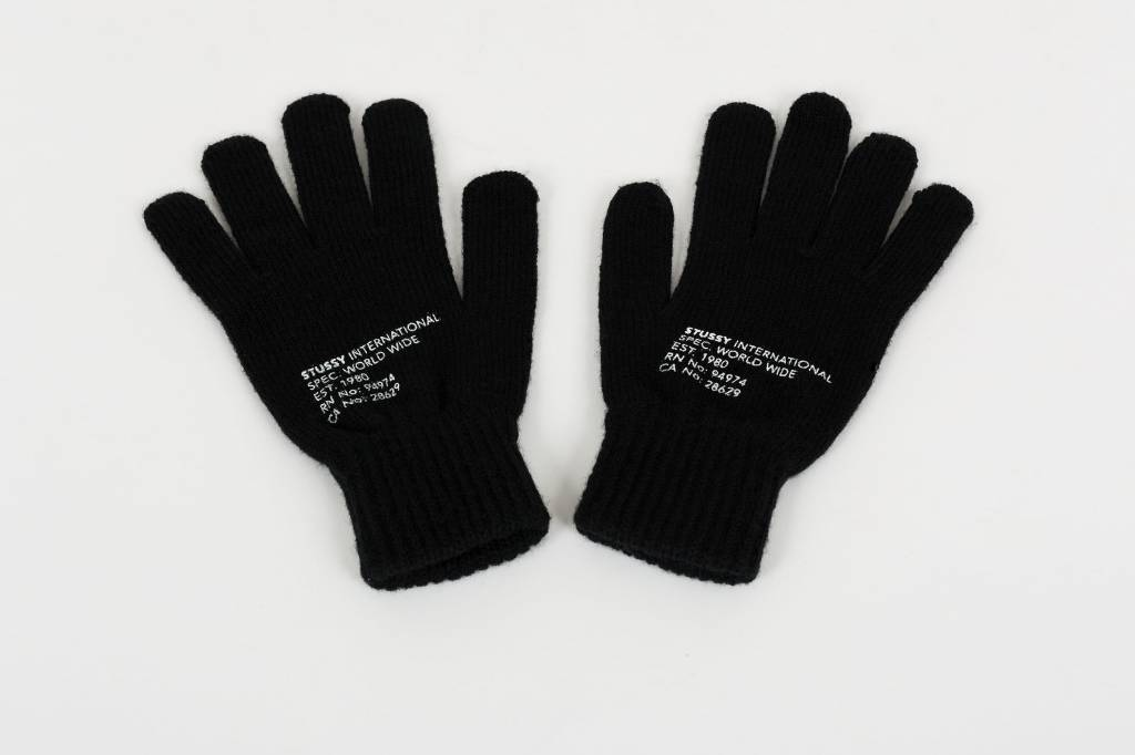 Stussy Stussy Printed Mil Spec Gloves Black