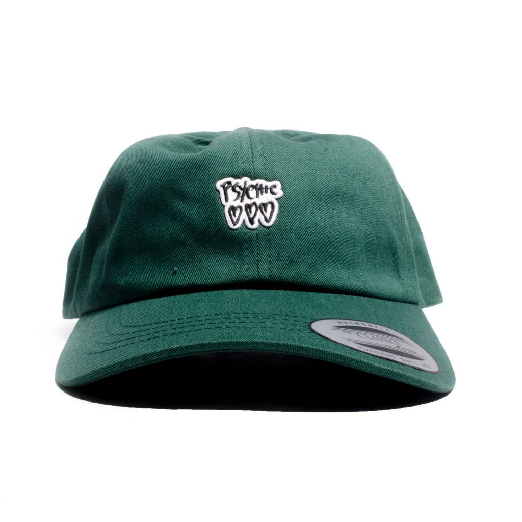 Psychic Hearts Psychic Hearts Logo Golf Cap Forest