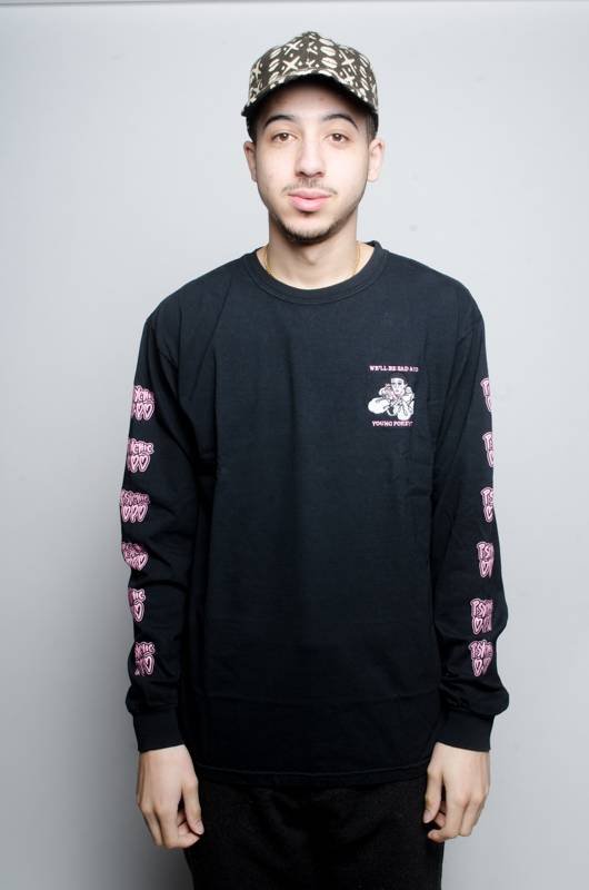 Psychic Hearts Psychic Hearts Sad and Young Longsleeve Black