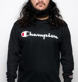 Champion Champion Script logo LS Black