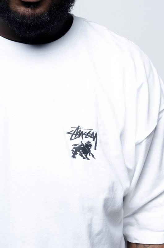 Stussy Stussy Lion Shield Tee White