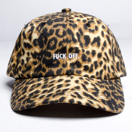 Raised By Wolves Raised by Wolves Fuck Off Cap Leopard