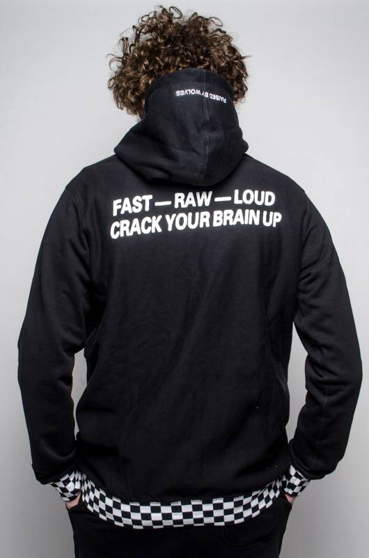 Raised By Wolves Raised by Wolves Crack Your Brain Up Sweatshirt