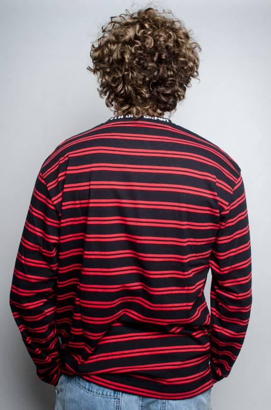 10 Deep 10 Deep 24HR Striped LS Red