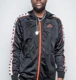 kappa Kappa Banda Zudai Slim Track Jacket Black/Red