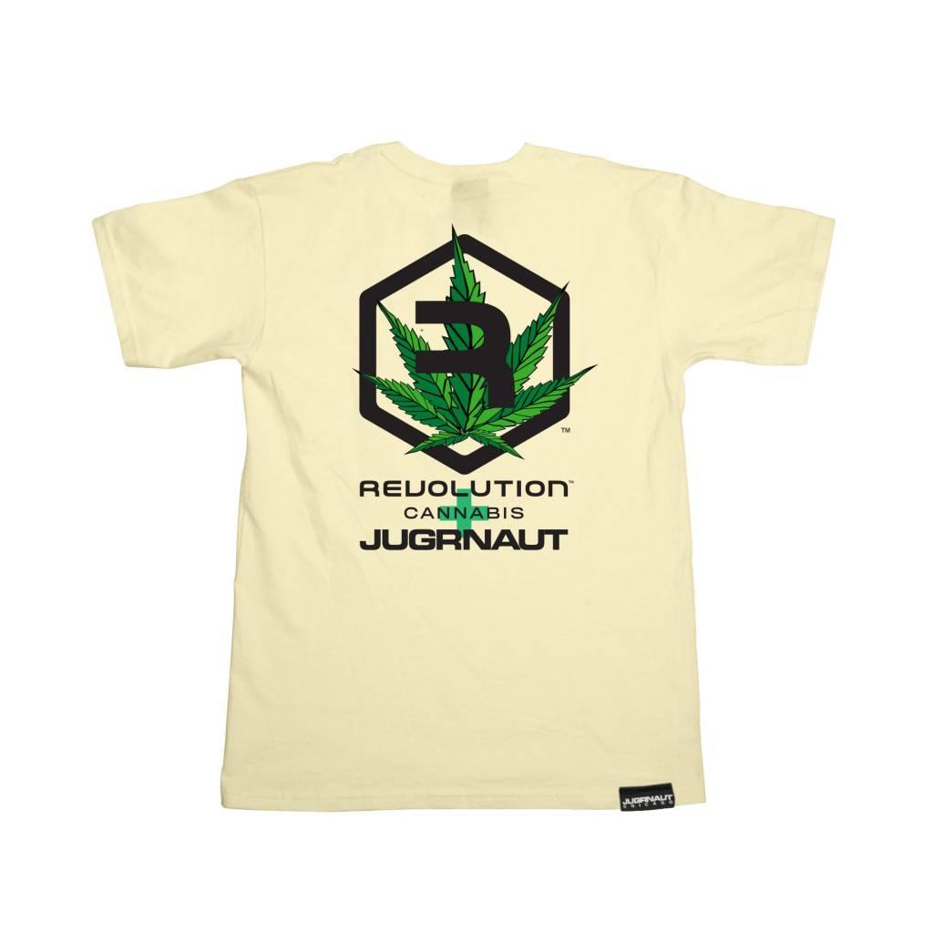 Jugrnaut Jugrnaut x Revolution Cannabis Leaf Tee Cream