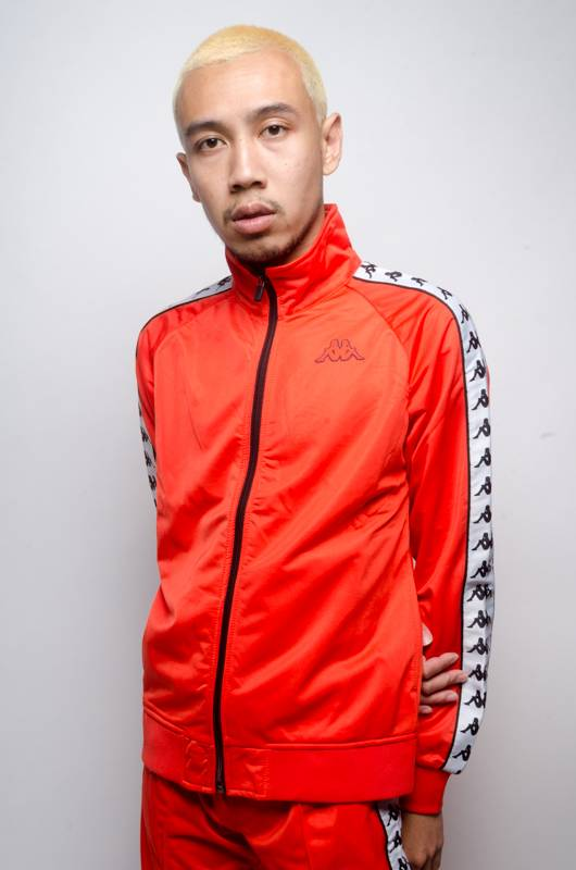 kappa Kappa Banda Anniston Slim Zip Up Red Orange