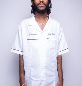 BBC BBC Five Star Button Up White