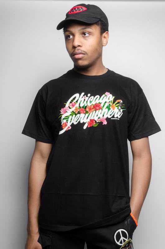 Jugrnaut Jugrnaut Chicago Everywhere Hibiscus Tee Black