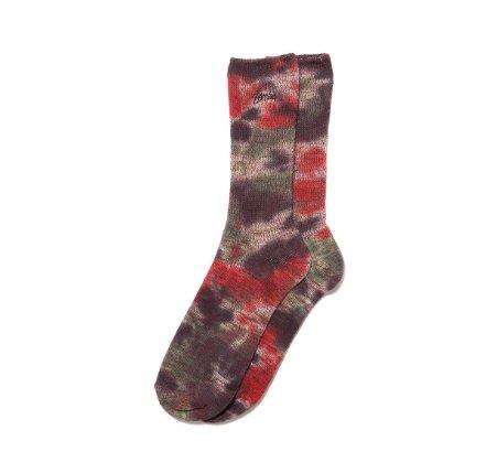 Stussy Stussy Tie Dye Marl Socks Black/Orange