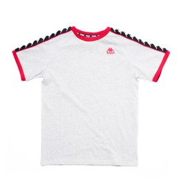 kappa Kappa Authentic Autin Tape Tee Grey/Red/Black