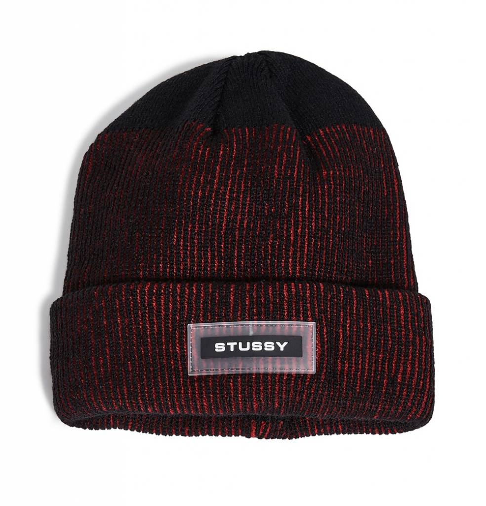 Stussy Stussy Rubber Patch Beanie Red