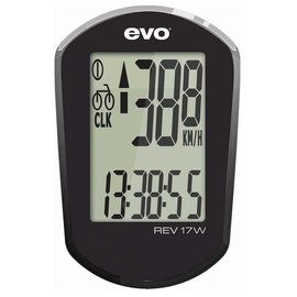 EVO EVO, REV17W, Wireless Cyclocomputer, Black