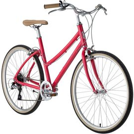 Civia Civia Lowry Step Thru 7-speed Bike: Watermelon Red/Gray