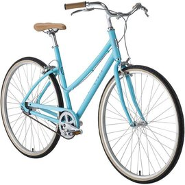 Civia Civia Lowry Step Thru Single-Speed Bike: Light Blue/Gray