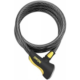OnGuard OnGuard Akita Cable Lock with Key: 6' x 12mm, Gray/Black/Yellow