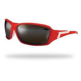 Lazer Xenon 1 X1 Glasses Matt Red frame grey + silver lens