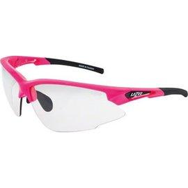 Lazer Lazer Argon Race (ARR) Sunglasses: Gloss Flash Pink Frames with Crystal Photochromic Lens
