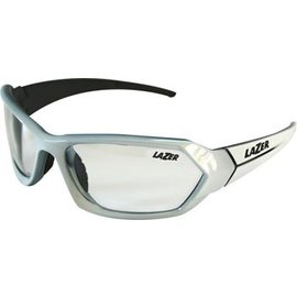 Lazer Lazer Electron 1 (EC1) Sunglasses: Gloss White Frames with Crystal Photochromic Lens