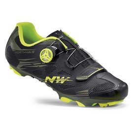 Northwave Northwave, Scorpius 2 Plus, MTB Shoes, Black Military/Yell.Fluo