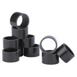 "XLC XLC, Headset Spacers 1-1/8"" 20mm 10/Bag Carbon"
