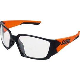 Lazer Lazer Krypton 1 (KR1) Sunglasses: Matte Black/Flash Orange Frames with Crystal Photochromic Lens