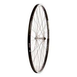Wheel Shop Wheel Shop, Front 700C Wheel, 36H Black Alloy Double Wall Alex DM-18/ Silver Shimano HB-RM70 QR Hub, Stainless Spokes