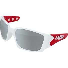 Lazer Lazer Magneto M2 Sunglassses: Gloss White/Red Frames with Three Interchangeable Lenses