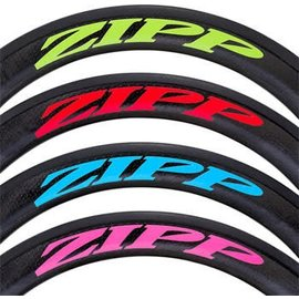 ZIPP Zipp Dec set 404 Red/No Border Zipp Logo Complete for One Wheel