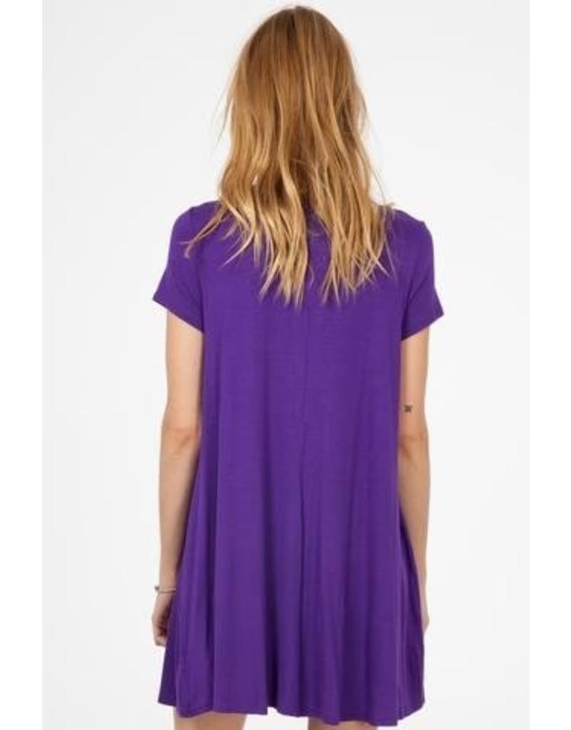 Pick Me Up Purple Swing Dress