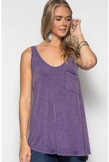 PeeDee Purple Twist Top