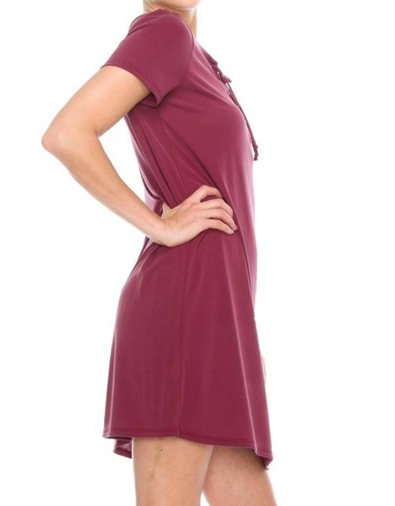 Night Air Lace Up Dress