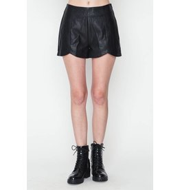 On the Edge Leather Shorts