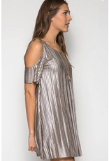 Only Hearts Metallic Shift Dress