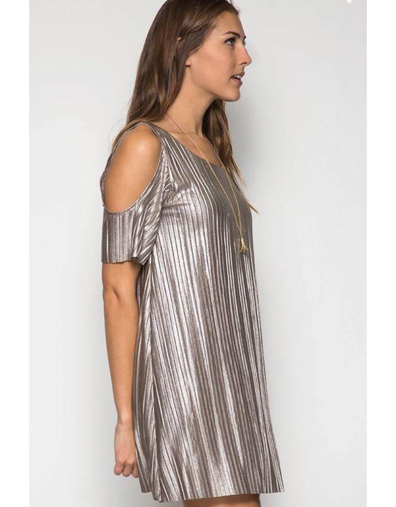 Only Hearts Metallic Shift Dress