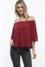 No Chance Off Shoulder Top