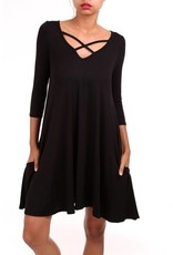 Christina Cross Front Game Day Dress