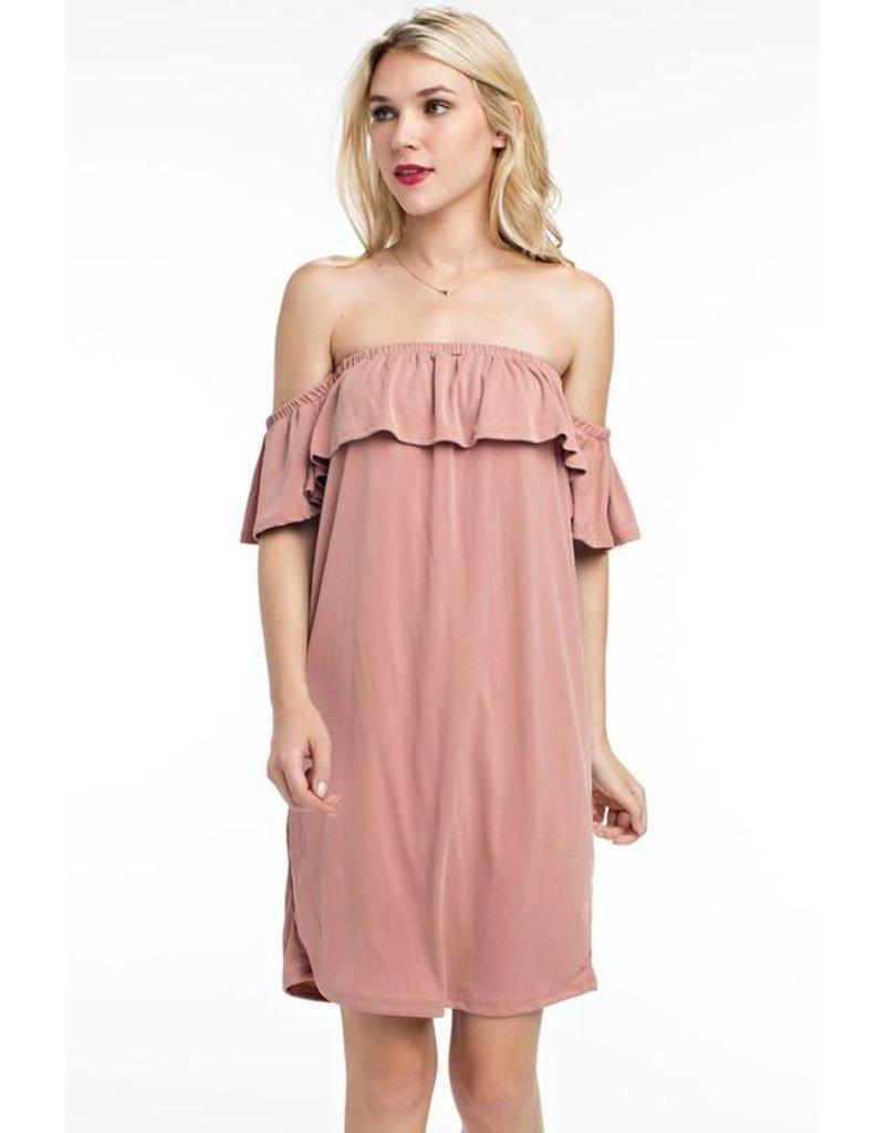 Tunnel Vision Off Shoulder Dress