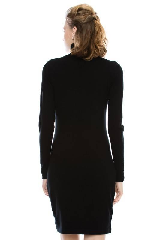 Illusion Turtleneck Dress