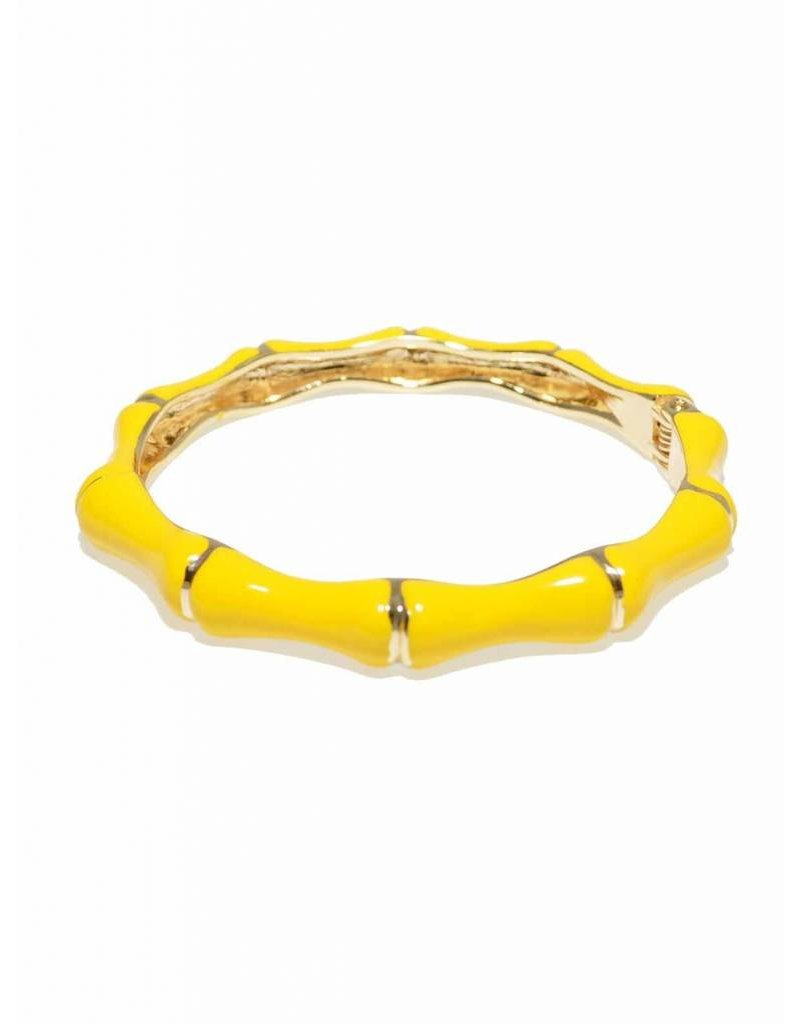 Zenzii Bamboo Bangle Yellow