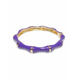 Zenzii Bamboo Bangle Purple