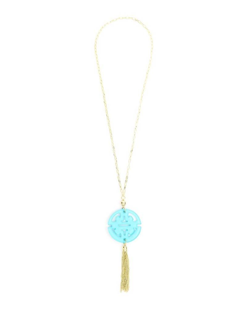 Zenzii Travel Tassel Pendant Necklace B. Blue