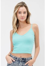 Cool & Collected Ribbed Crop Top