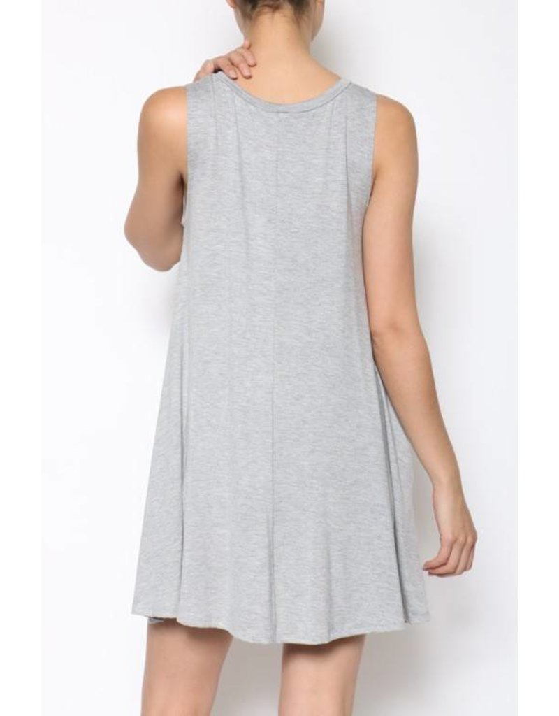 Simple Game Day Tank Dress