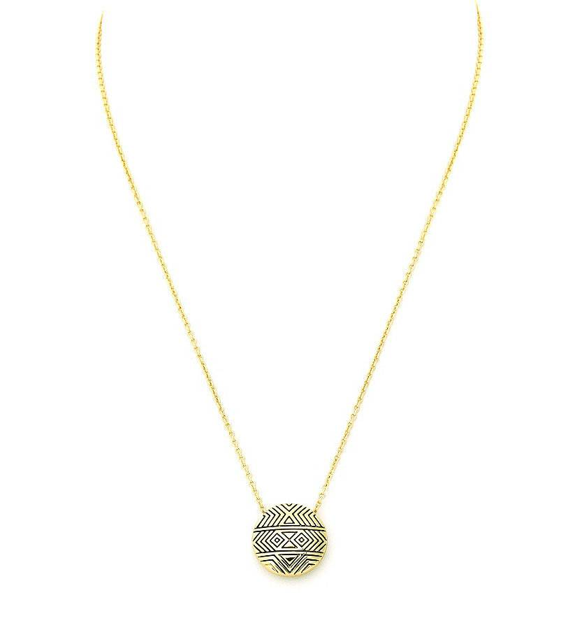 House of Harlow Small Tholos Mosaic Pendant Necklace