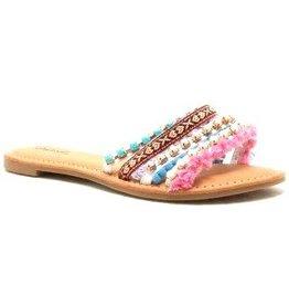 Athena Pom Pom Sandal