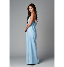Take Me Back Denim Maxi Dress
