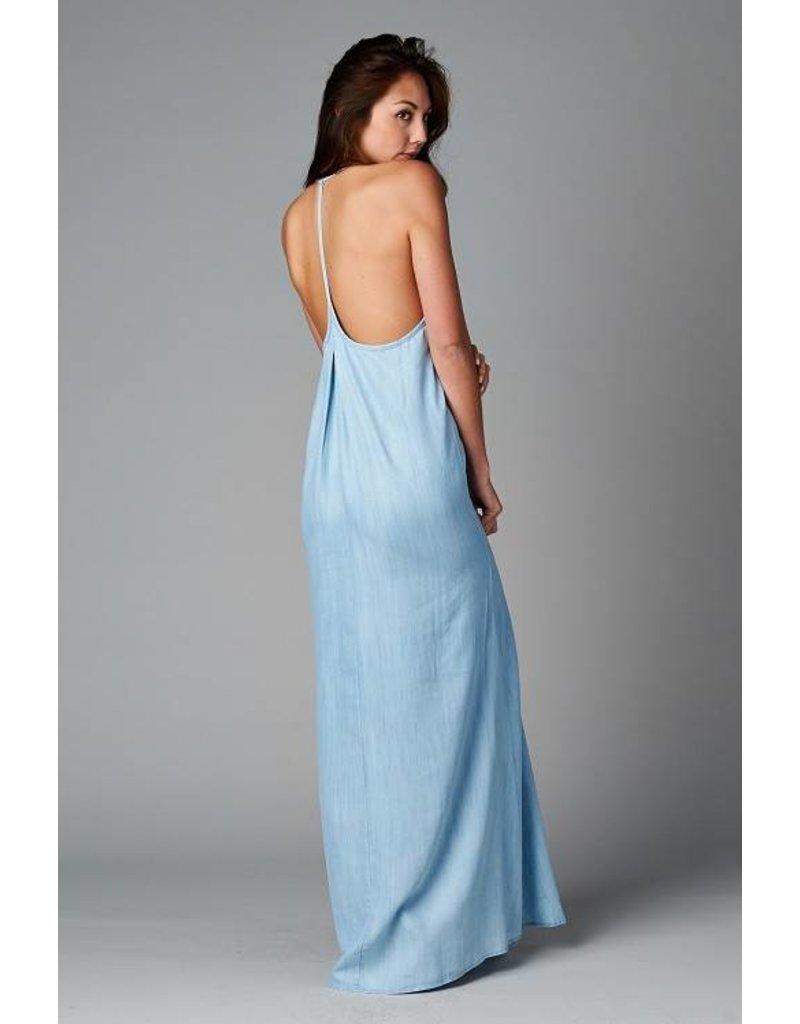 Take Me Back Denim Maxi Dress - Catalog Connection
