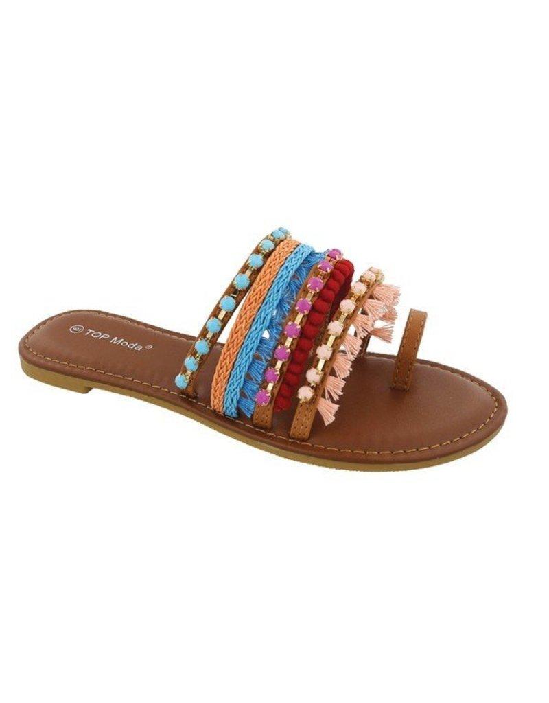 Festival Pom Pom Sandals