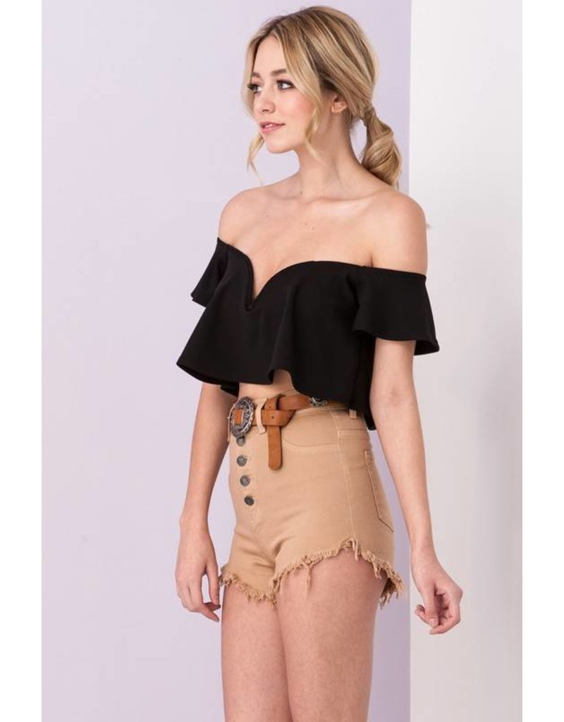 Want Me Ruffle Crop Top